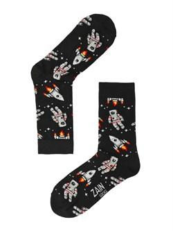 Носки Астронавт ZAIN 061 чёрные - фото 5408