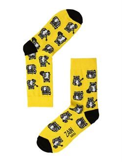 Носки Еноты ZAIN 009 желтые - фото 5410