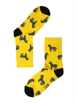 Носки Зебра ZAIN 012 желтые - фото 5411