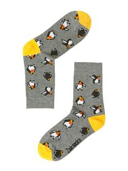 Носки Пингвины ZAIN 030 серые - фото 5412