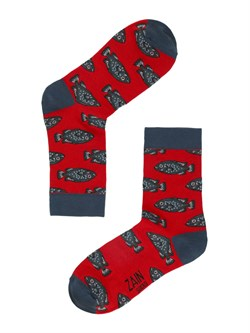 Носки Рыбы ZAIN 031 красные - фото 5435