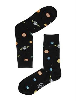 Носки Космос ZAIN 092 черные - фото 5982